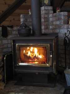 A warm, cozy fire inside. April 7, 2015