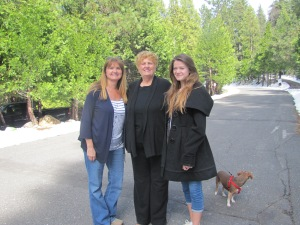 Me, Mom, Rebecca, and Bella on our way out. April 9, 2015