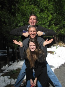 Uncles - Niece Totem Pole. Jon, Willy, and Rebecca April 9, 2015