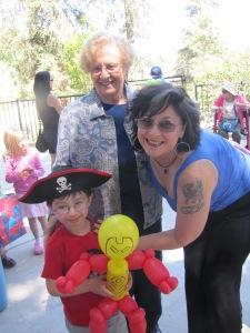 Mariano with Grandma Pam, and Great-Grandma Sell