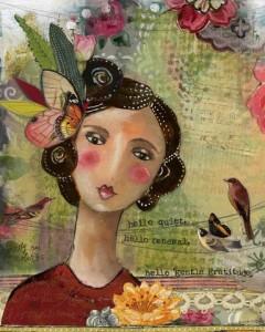 Hello Gentle Gratitude by Kelly Rae Roberts