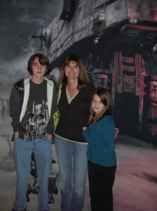 Star Wars in Concert!! Michael, Me, and Rebecca at the pre-show displays. 2009