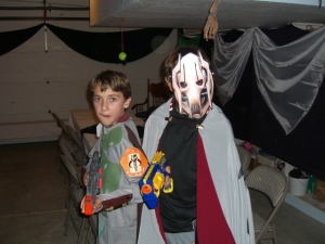 Michael as Boba Fett and Gus as Lord Grievous Halloween 2007