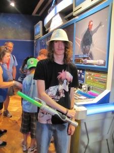 Never too old for a light saber!!