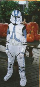 Michael is a Clone Trooper Halloween 2006