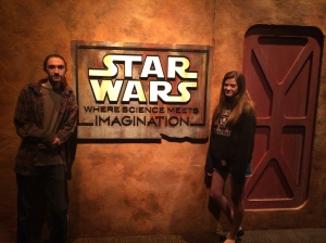 Michael and Rebecca at the Star Wars exhibit at the Tech Museum 2014