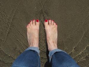 At water's edge in Pajaro Dunes