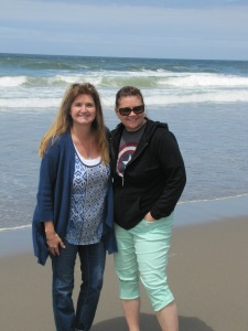 Me and Janet on the beach