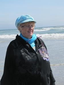 Mom on the beach