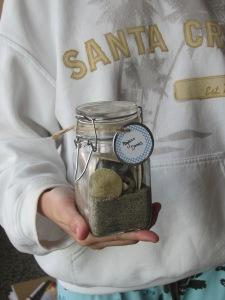 Rebecca's memory jar