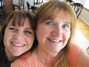 Janet and my attempt at a selfie with my camera.... we need a little practice!