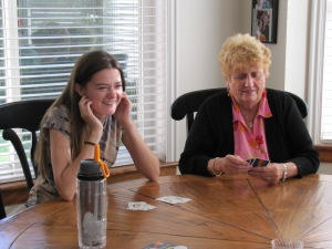 Rebecca and Mom.  Lots of games were played!