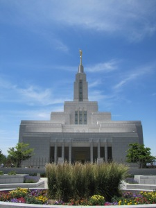 The were married in the LDS Draper Temple