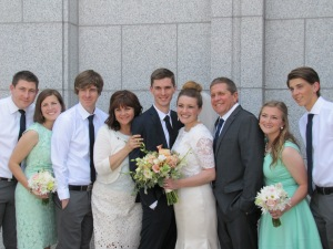 The bride's family!
