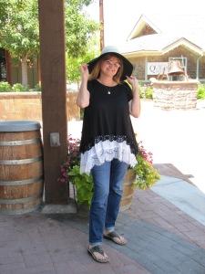 My new hat in Gardner Village