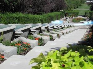 The Italian Garden and amazing fountain.
