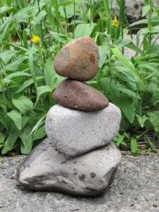 I created a couple of rock sculptures while I was there...
